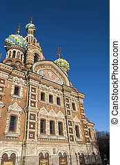 Spas na Krovi Cathedral - bright day view over Church of Our...