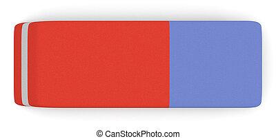 eraser - top view of one eraser (3d render)