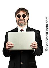 Portrait of a senior businessman smiling - Portrait of a...