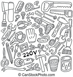 work tools - doodles