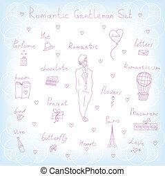 romantic gentleman set