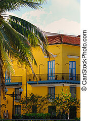 Tropical house in Old havana - Detail of typical tropical...