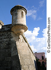 Spanish fort in Havana - Detail of old spanish fort in Old...