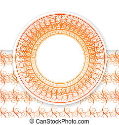 Round Frame - Abstract Decorative Round Frame For Your...