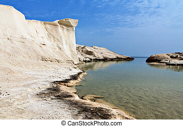 Sarakiniko beach in Greece - Sarakiniko beach at Milos...