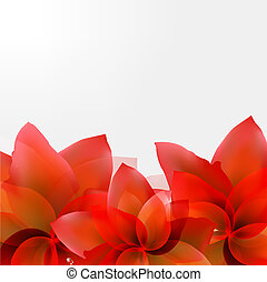 Borders Of Abstract Red Tulips