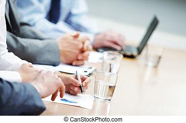 negócio, reunião
