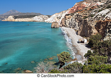 Milos island in Greece - Firiplaka beach at the island of...