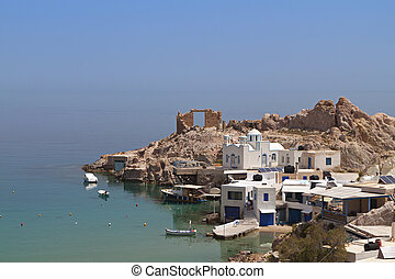 Milos island in Greece - Traditional fishing village of...
