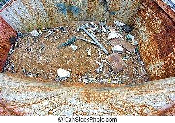 tanque, cheio, Lixo, Landfill, lançamento