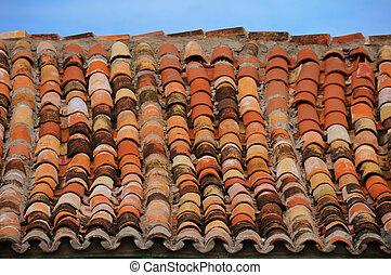 Detail of vintage rooftop