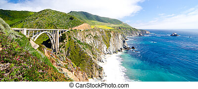 The Famous Bixby Bridge on California State Route 1 - The...