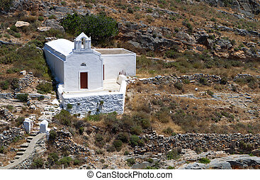 Syros island in Greece - Old traditional chapel at Syros...