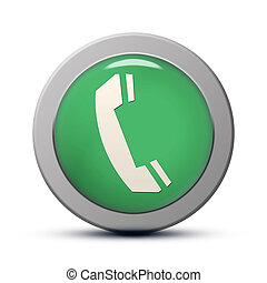 Phone icon - green round Icon series : Phone button