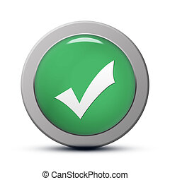 Validate icon - green round Icon series : Validate button