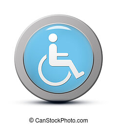 handicapped icon - blue round Icon series : handicap symbol...
