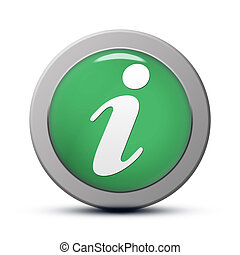 Info icon  - green round Icon series : Info button