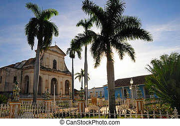 Plaza mayor, trinidad, cuba - A view of Plaza Mayor in...