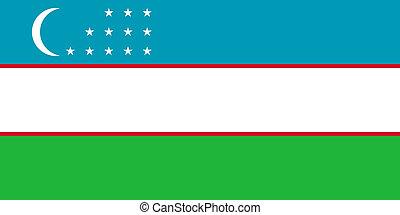 Uzbekistan - The Standard flag of Uzbekistan