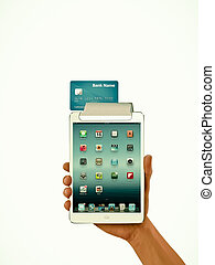 Tablet PC Bank Card Concept