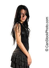Hispanic teen girl - Portrait of young hispanic beauty with...