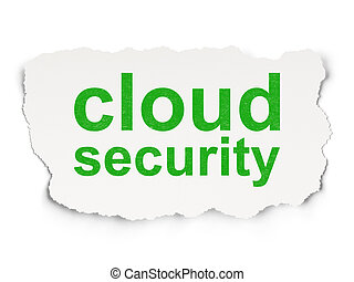 Protection concept: Cloud Security on Paper background