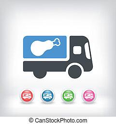 Meat van icon concept