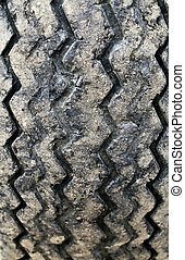 Used tire background