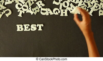 Best Bang For Your Buck - A person spelling Best Bang For...