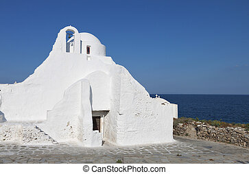 Mykonos island in Greece - Old church of Panagia...