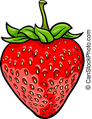 strawberry fruit cartoon illustration - Cartoon Illustration...