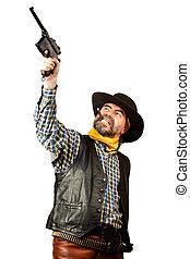 american cowboy smoking cigar - american cowboy with...
