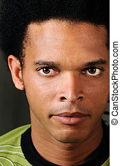 African male face - Portrait of young african american male...
