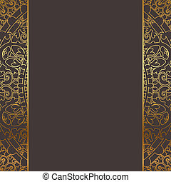Vector brown and gold frame