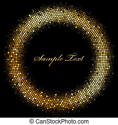 Vector frame with gold sparkles