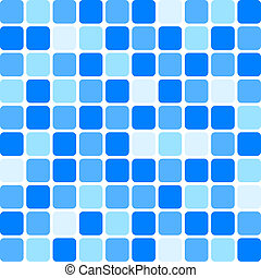 Vector background - blue tile wall