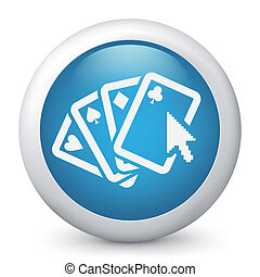 Poker website concept icon