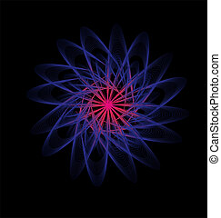 black background atomic design vector art
