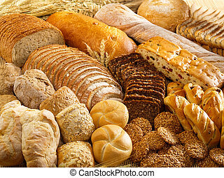 Bakery products - Arrangement with bakery products
