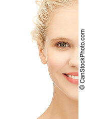 clean face of beautiful girl - picture of clean face of...