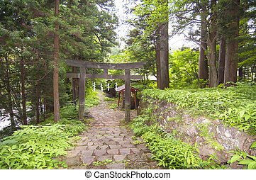 Japanese Tori in the nature - A Tory is a traditional...