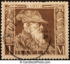 Bavaria 1911 Stamp - GERMANY - CIRCA 1911: a stamp printed...