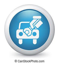 Car assistance concept icon