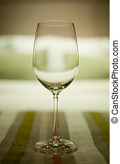 Wine glasses in luxury hotel interior
