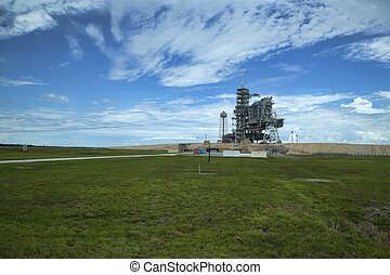 Kennedy Space Center launch pad 39-A, part of the Space...