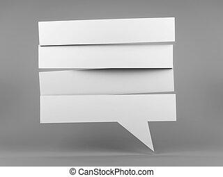 Speech bubble strip blank - White strip blank speech bubble,...