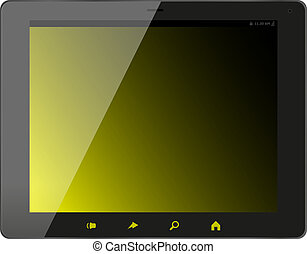 Tablet pc computer isolated on white