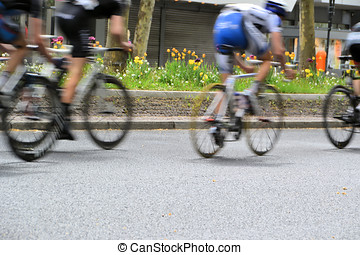 Cycle race in Berlin - a bicycle race through the streets of...