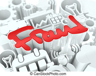 Fraud Concept on White Background.