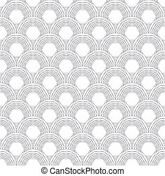Monochrome vector simple geometric scales texture